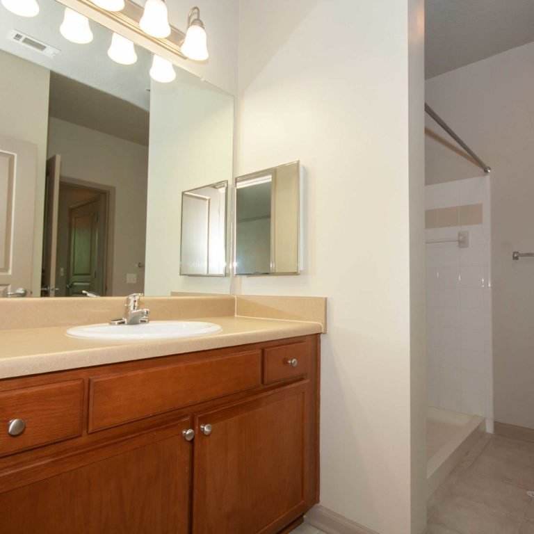 Apartment bathroom at The Retreat at Dorsey Manor - Senior Apartments in Marietta, GA