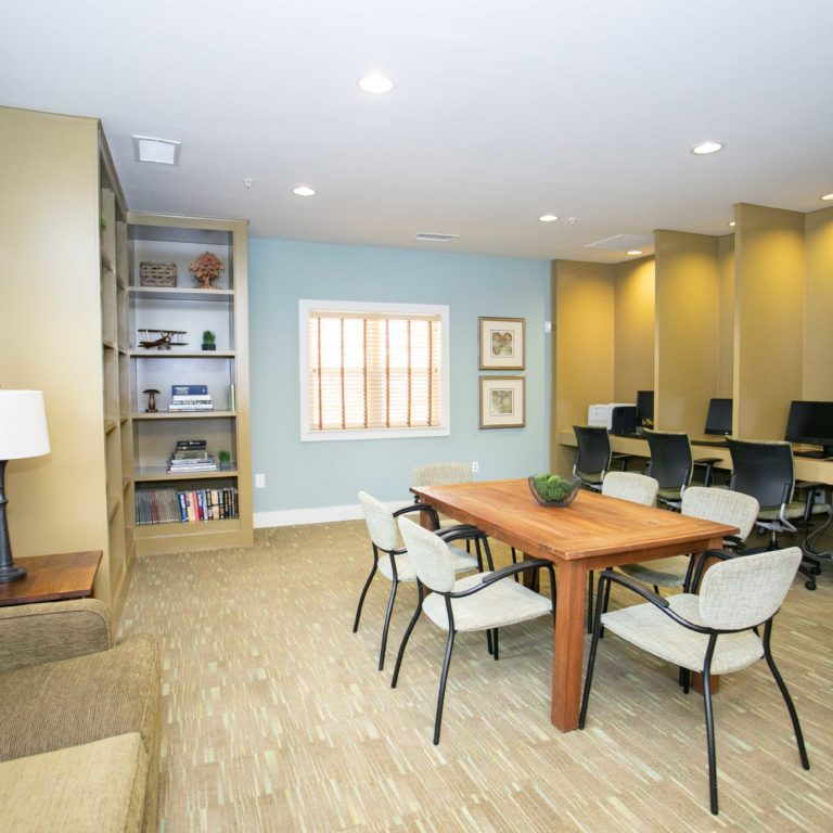 Business Center at The Retreat at Edgewood Townhomes - Apartments in Atlanta, GA
