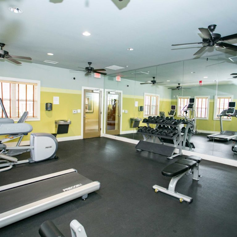 Fitness center at The Retreat at Edgewood Townhomes - Apartments in Atlanta, GA