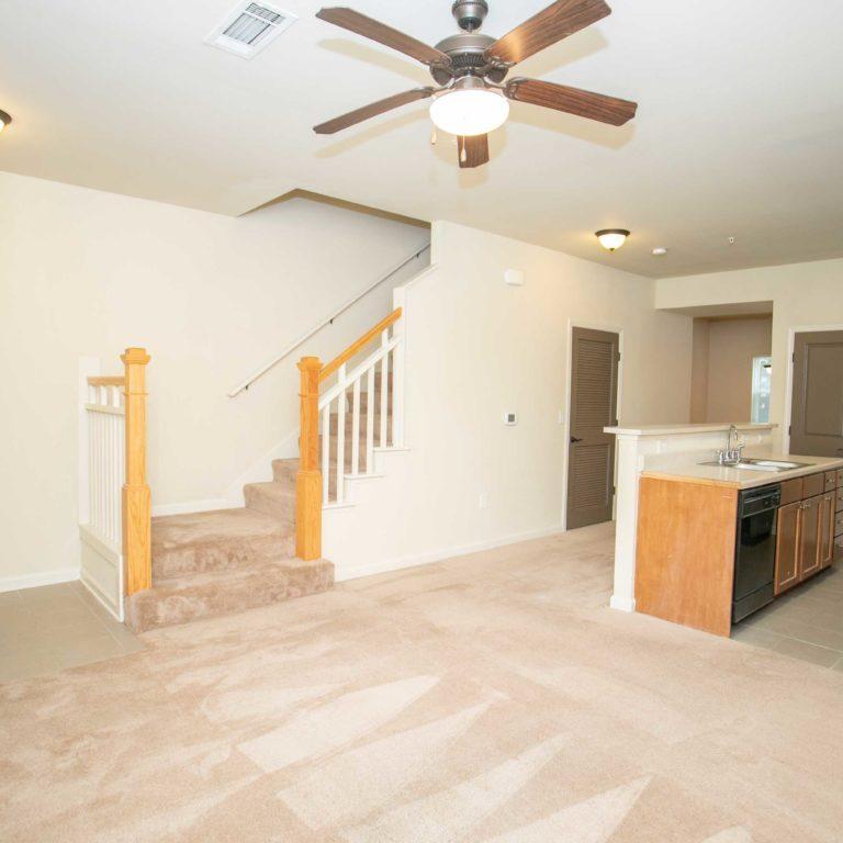 Apartment living space at The Retreat at Edgewood Townhomes - Apartments in Atlanta, GA