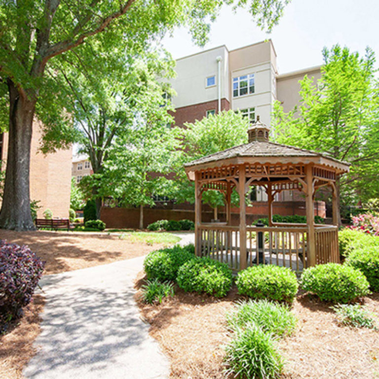 Gazebo at The Tower at Dorsey Manor Senior Residences - Senior Apartments in Marietta, GA