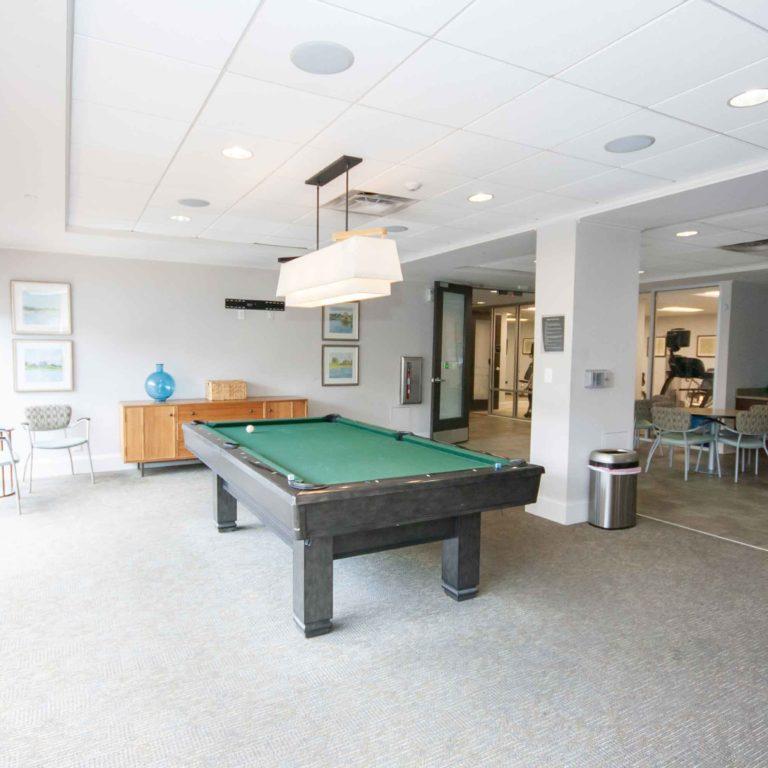 Entertainment room of 10th and Juniper - Apartments in West Midtown Atlanta, GA