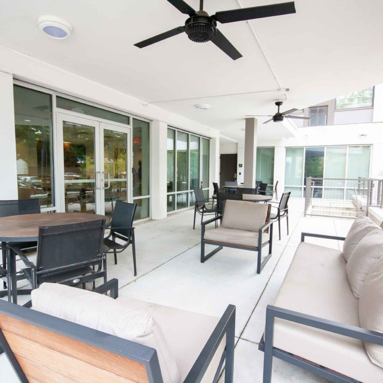 Furnished Outdoor Patio of 10th and Juniper - Apartments in West Midtown Atlanta, GA