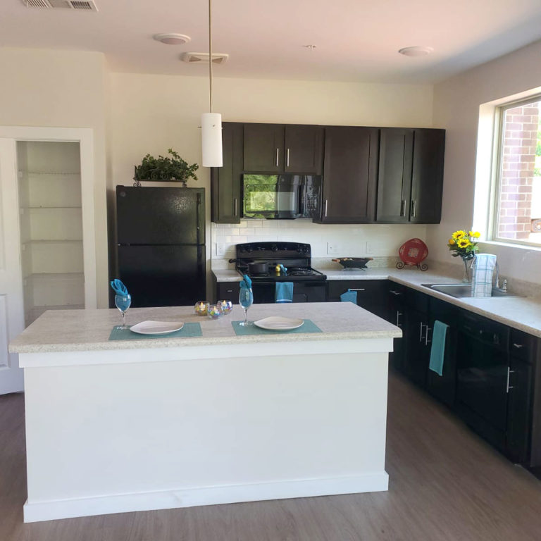 kitchen at Gardenside at The Villages of East Lake apartments in Atlanta