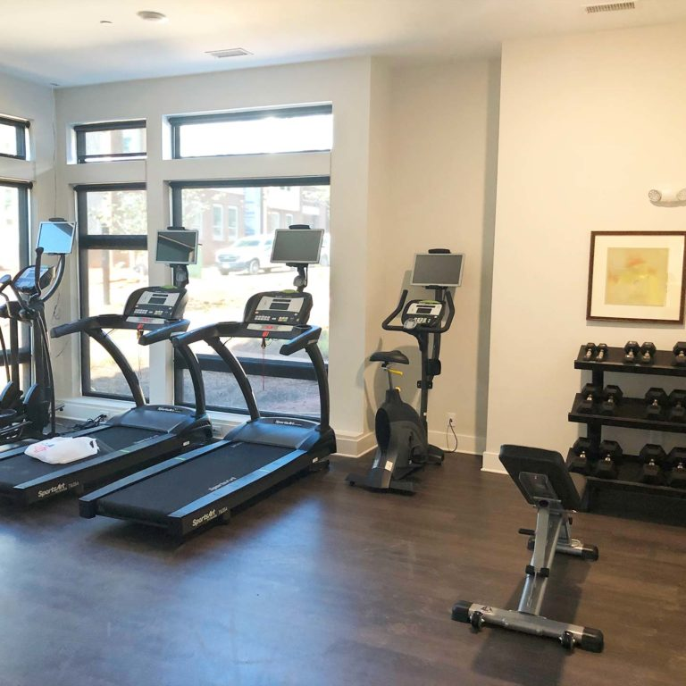 fitness center at Gardenside at The Villages of East Lake apartments in Atlanta